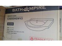 White Vanity Basin Brand New Sealed in Box from soak