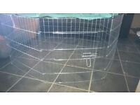 5 ft brand new rabbit run, galvanized steel with sun protection canopy
