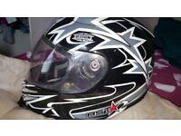 Black, white & grey Helmet excellent condition.