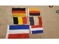 6 x Assorted Sailing Ensigns