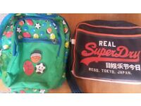 Superdry Black Satchel AND Smiggle backpack Bundle