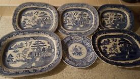 Willow pattern collectables and Spode – Meat plates and dinner plates