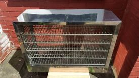 Hot food cabinet display good for take away/fish & chips/sandwiches/restaurants