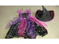 Halloween witches costume with hat
