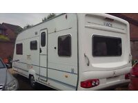 ACE jubilee viceroy 5 berth lightweight caravan 2006