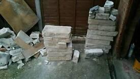 13 cement block & 6.5 finishing stones.