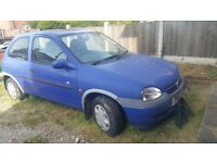 Corsa Vauxhall 3 door hatchback bought 2 years ago . Not been used since then. Still working.