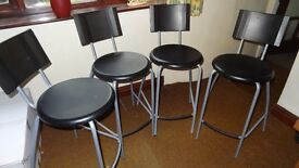 ikea bar stools set of grey silver in colour good condition