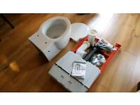 Adjustable wall hung toilet frame with concealed cistern