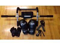 !_(£25) Reebok Boxing Gloves, like new + 2 jump jumpbands + adjustable back strap,etc_!