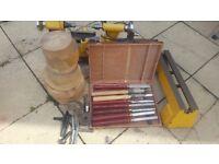 Lathe wood lathe wnd accessories