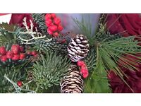 Festive Table Arrangement Workshop £30 all materials supplied - Gorseinon. Flower Arranging Classes