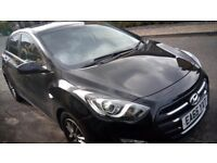 Hyundai i30 black manual Hatchback 1.6 CRDi Blue Drive SE 5dr