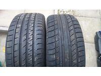Assorted part worn tyres