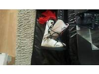Rome Snowboard/ bindings with carry case boots and helmet