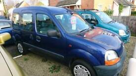 Renault Kangoo 1.2 petrol, 2002,wheelchair access.