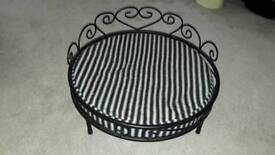 Dogs Bed - boutique black iron bed for small dog