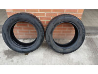 x2 - 235 55 17 Avon winter tyres 7mm part worn