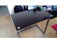 Computer desk - glass top