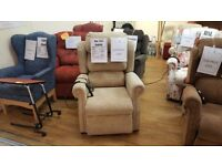 Oak Tree Mobility Oak Electric Riser Recliner Chair + Heat & Massage System, Delivery Available
