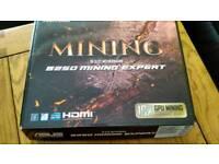 Bundle Motherboard Asus B250 Mining Expert +Intel i3-7100 3.9Ghz + 8GB Ram (warranty)