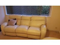 La-Z-boy real leather recliner sofa and armchairs