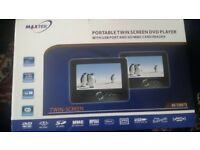 Car DVD twin screen player