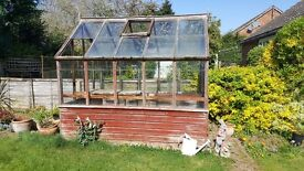 Free Traditional Wooden Greenhouse