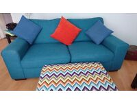 3 seater sofa and footstool for sale