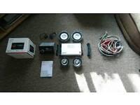 Car radio, amp and speakers