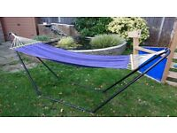 Blue Hammock with Stand