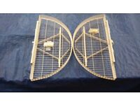 Extending corner unit baskets