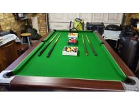 Supreme slate bed pool/snooker table