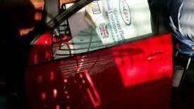 VW GOLF DOORS RED