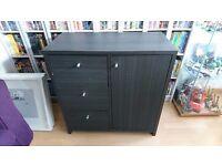Black sideboard, storage cupboard £15