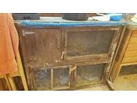 Rabbit guinea pig cage hutch 2 tier sleeping compartment
