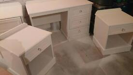 Dressing table and matching pair of bedside tables. FREE LOCAL DELIVERY