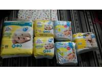 Size 1 and 2 nappies