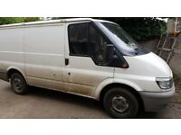 Ford transit with broken diesel pump for sale