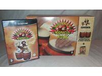 Nintendo Gamecube DONKEY KONGA PAK With DK Bongos & Donkey Konga Game (christmas)