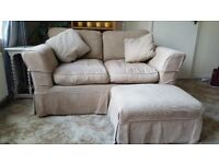 2 Seater Sofa and Matching Foot stool (Sofa Workshop)