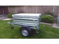 Brenderup 1150s New Car trailer +extension sides + flat cover.