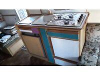 Caravan sink cooker oven fridge built in unit