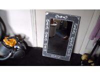 Beautiful silver decorative mirror in excellent condition