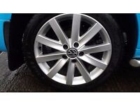 VW GENUINE ALLOY WHEELS WITH GOODYEAR F1 TYRES FIT MOST AUDI ,SKODA ,SEATS , VW CADDYS