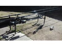 Carp fishing Rods and other items for sale.