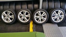 Skoda Genuine 16 alloy wheels + 4 x tyres 205 45 16