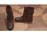 Fearne Cotton Estelle Leather Biker Boots size 6