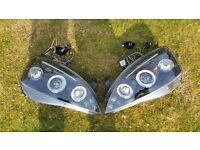 Corsa C Black Angle Eye Headlights