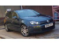 2010 (59) Volkswagen Golf 1.6 SE TDI Diesel Bluemotion Tech 5 Doors Hatchback Blue